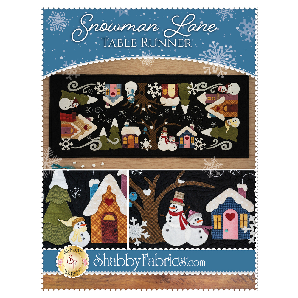 Snowman Lane Table Runner - Pattern