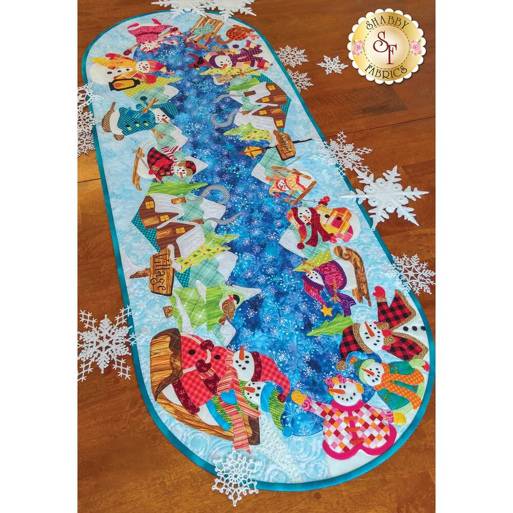 Snowman Village Series - Table Runner - Laser-Cut Kit | Shabby Fabrics