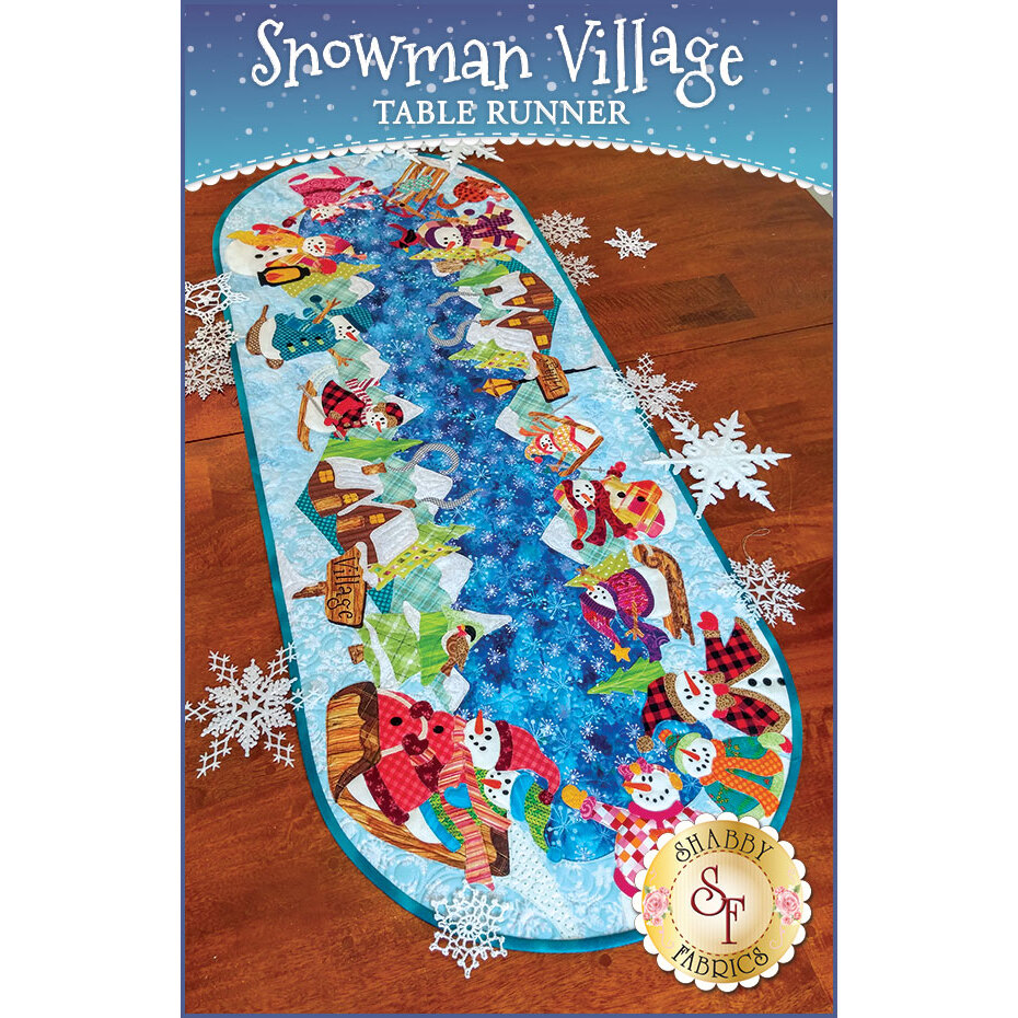 Snowman Village Series - Table Runner - Pattern