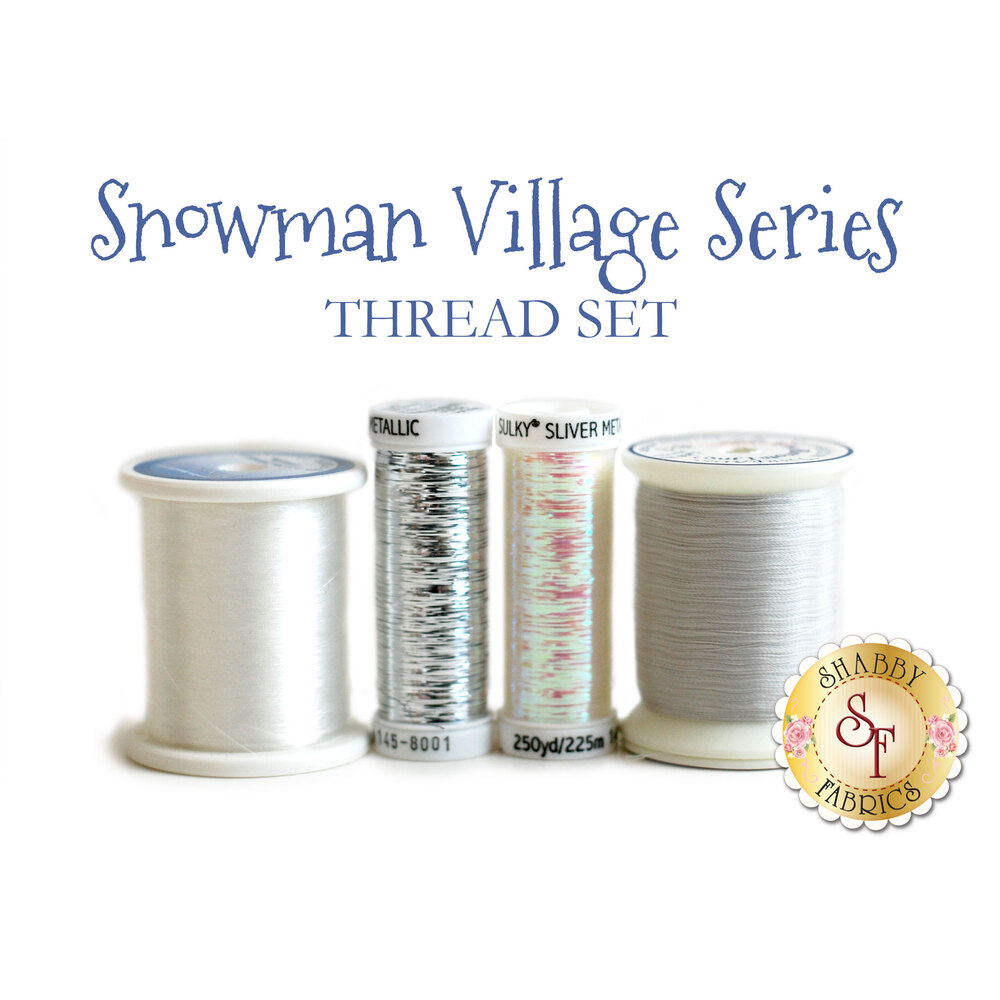 Snowman Village Series - 4 pc Thread Set