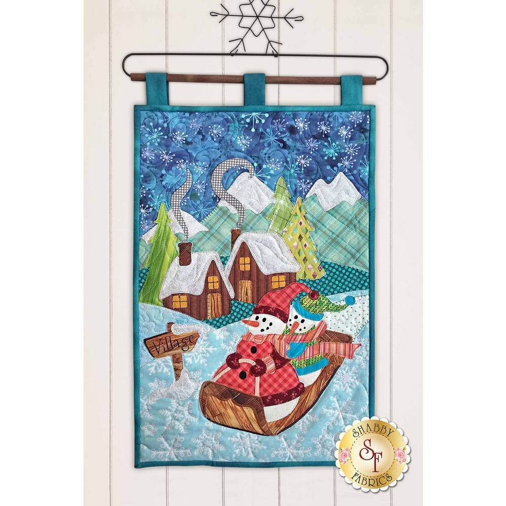 Snowman Village Series - Wall Hanging - Laser-Cut Kit | Shabby Fabrics