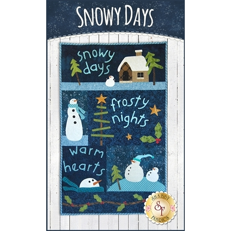 Snowy Days Wall Hanging Kit - Pre-Fused/Laser-Cut