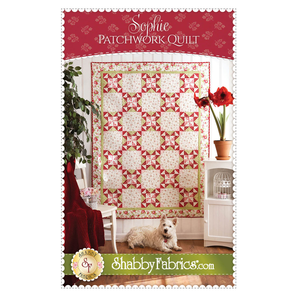 The front of the Sophie Patchwork Quilt pattern
