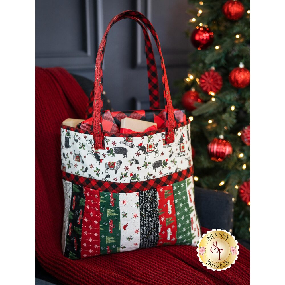 Quilt As You Go Sophie Tote Kit - Homegrown Holidays