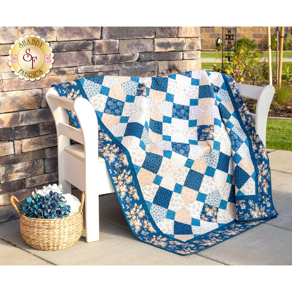 Spinning 9-Patch Blue Sky Quilt Kit