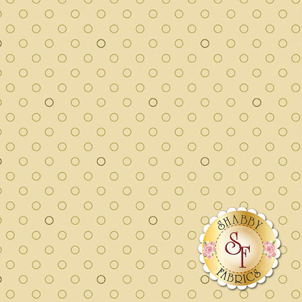 A basic tan tonal polka dot fabric | Shabby Fabrics