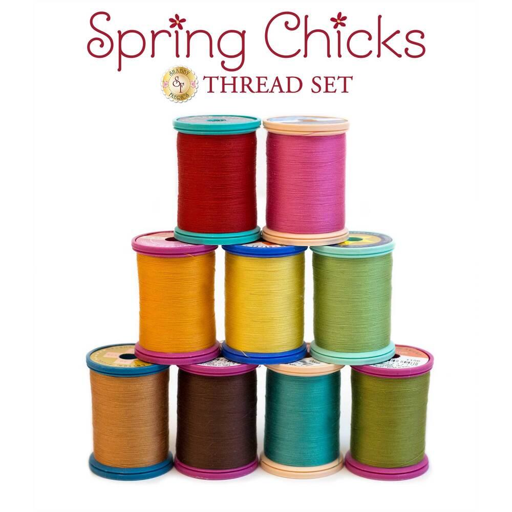 Spring Chicks BOM - 9 pc Sulky Thread Set