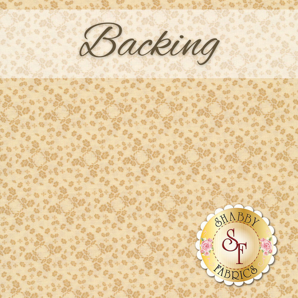 The coordinated backing for the Springville Quilt Kit | Shabby Fabrics