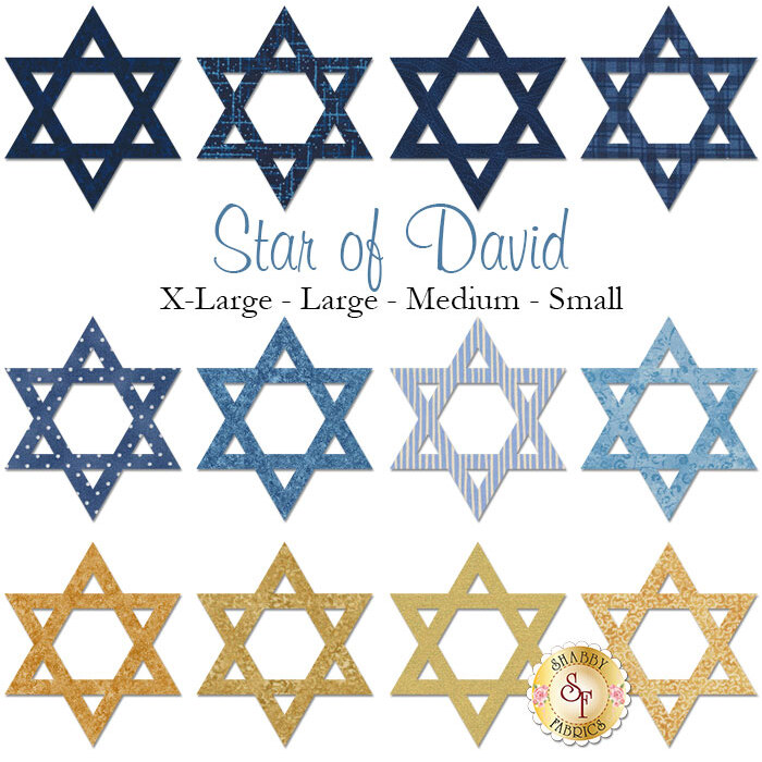 Laser-Cut Star of David - 4 Sizes Available!