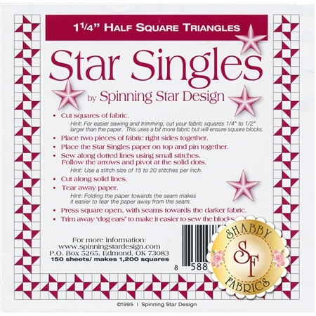 "Star Singles 1 1/4"" Half Square Triangle Paper"