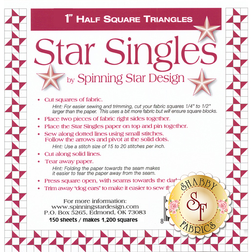 "Star Singles 1"" Half Square Triangle Paper"