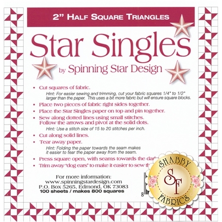 "Star Singles 2"" Half Square Triangle Paper"