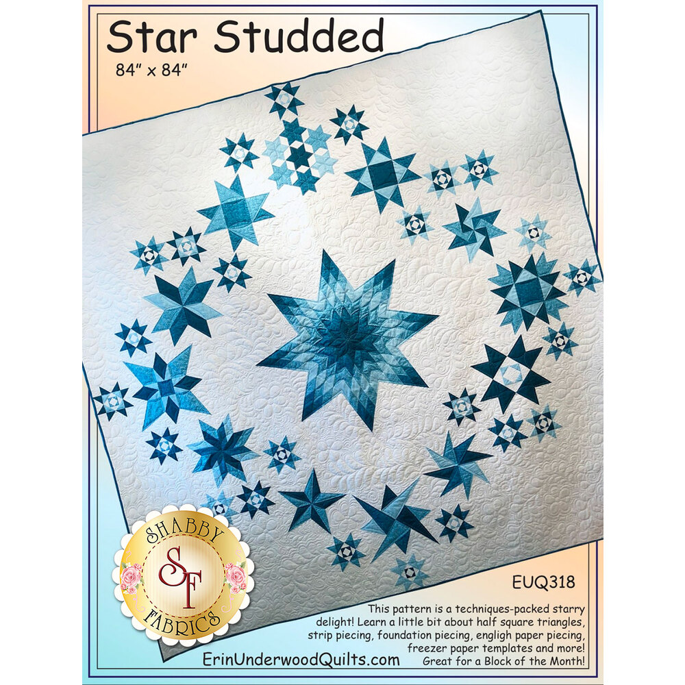 The front of the Star Studded pattern showing the Star Studded quilt | Shabby Fabrics