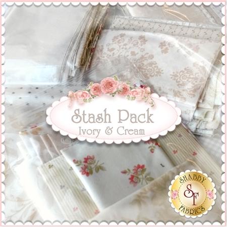 Stash Pack - Ivory & Cream from Shabby Fabrics
