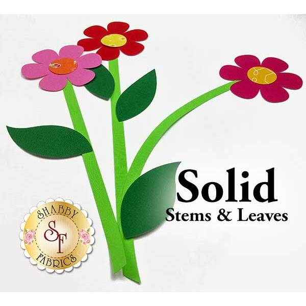 Laser-Cut Solid Stems & Leaves - 4 Sizes Available!