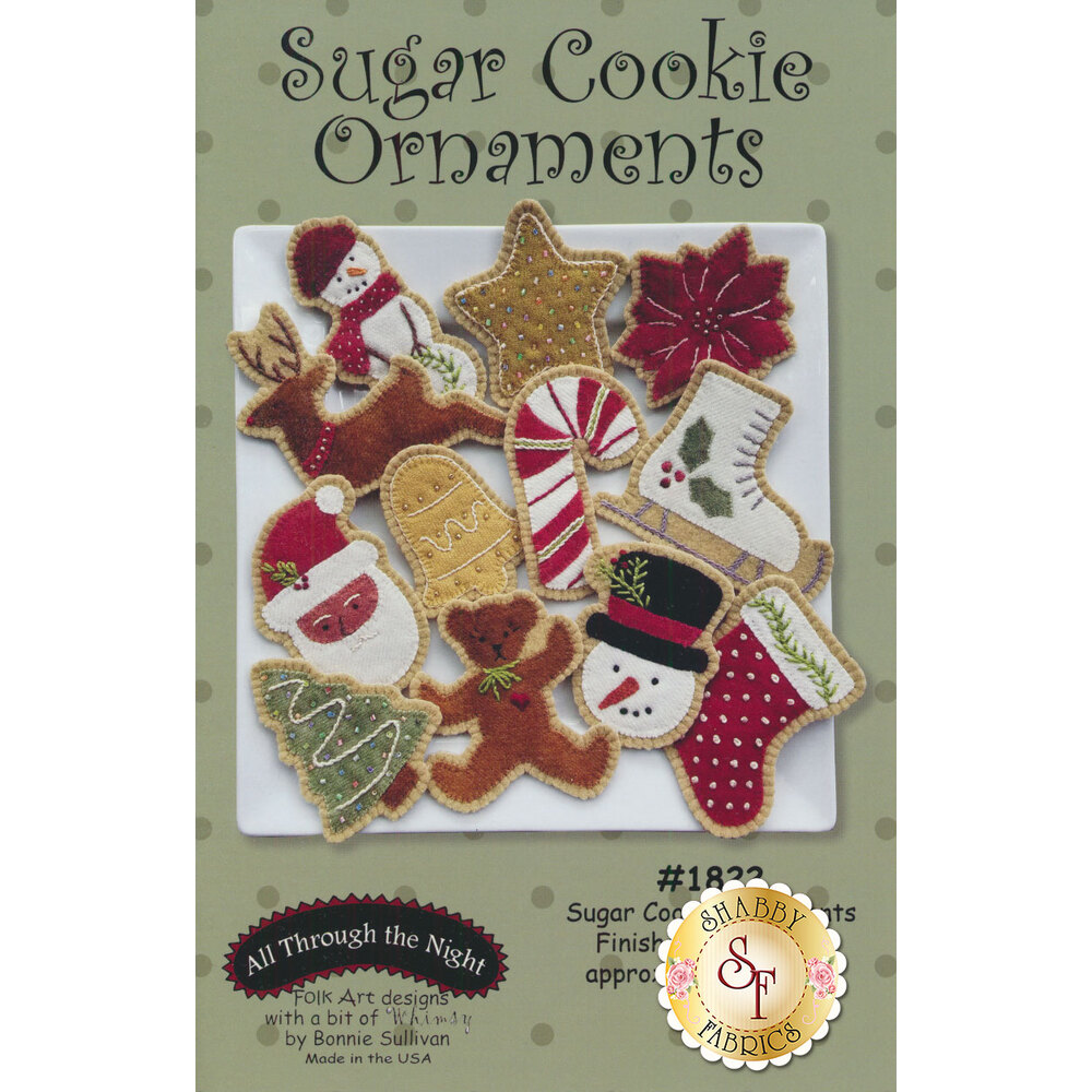 Sugar Cookie Ornaments Pattern available at Shabby Fabrics