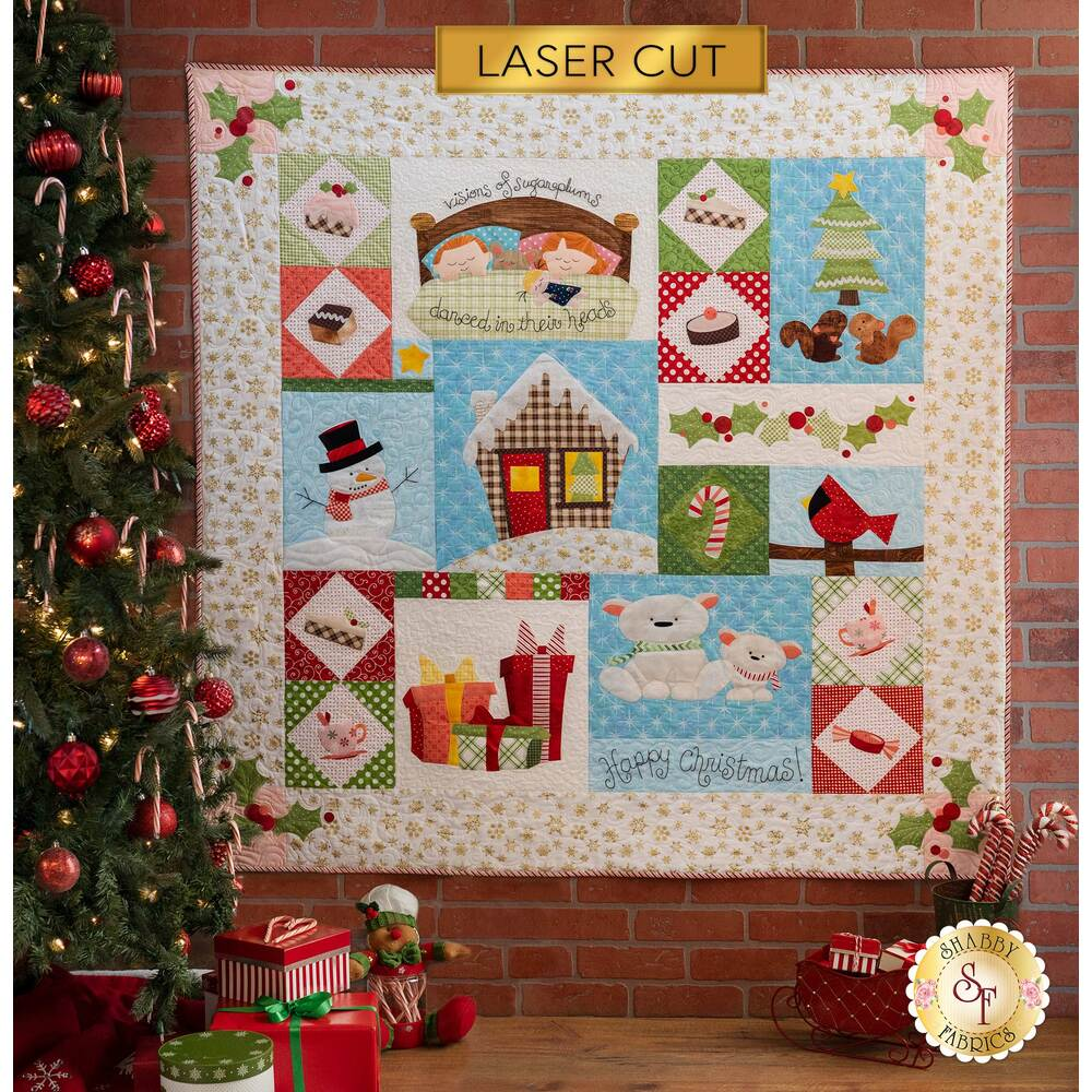 Adorable children's quilt with snowmen, candies, and adorable critters - Shabby Fabrics