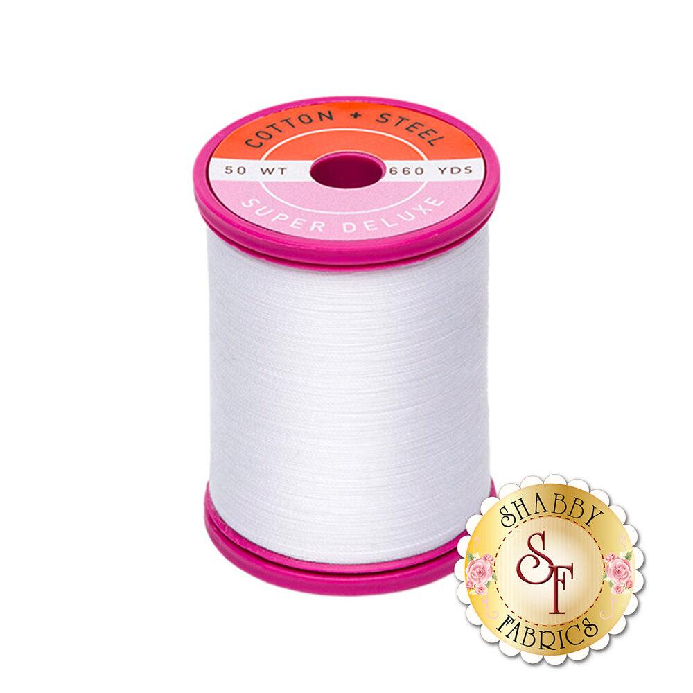 Sulky Cotton + Steel 50wt #1001 - Bright White - 660yds | Shabby Fabrics