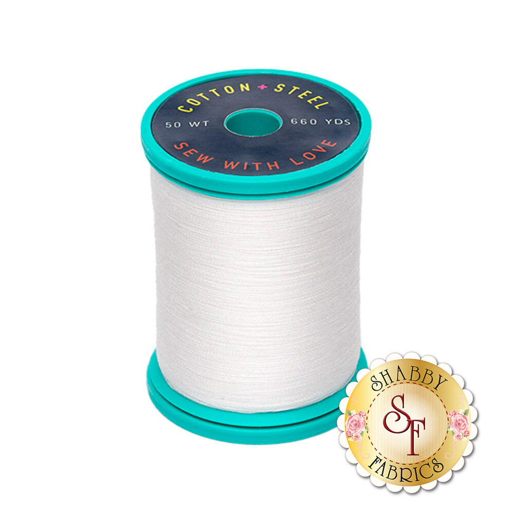 Sulky Cotton + Steel 50wt Thread - Soft White - 660yds | Shabby Fabrics