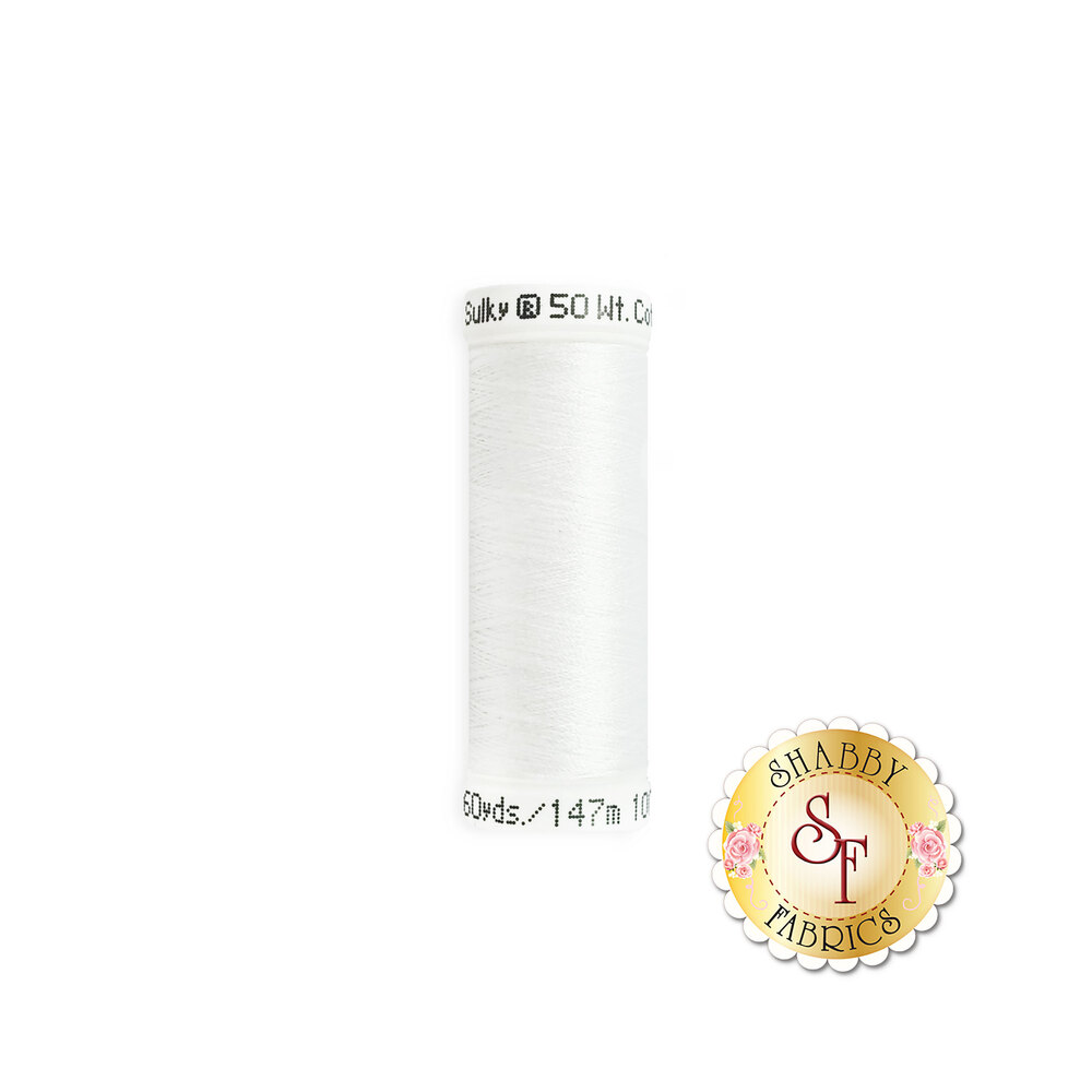 Sulky 50 wt Cotton Thread - Bright White 1001 by Sulky Of America