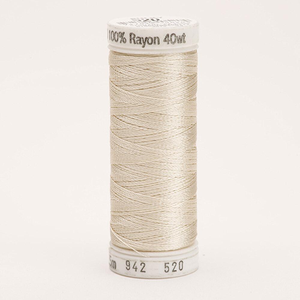 Sulky 40 wt Rayon Thread #0520 Bone | Shabby Fabrics