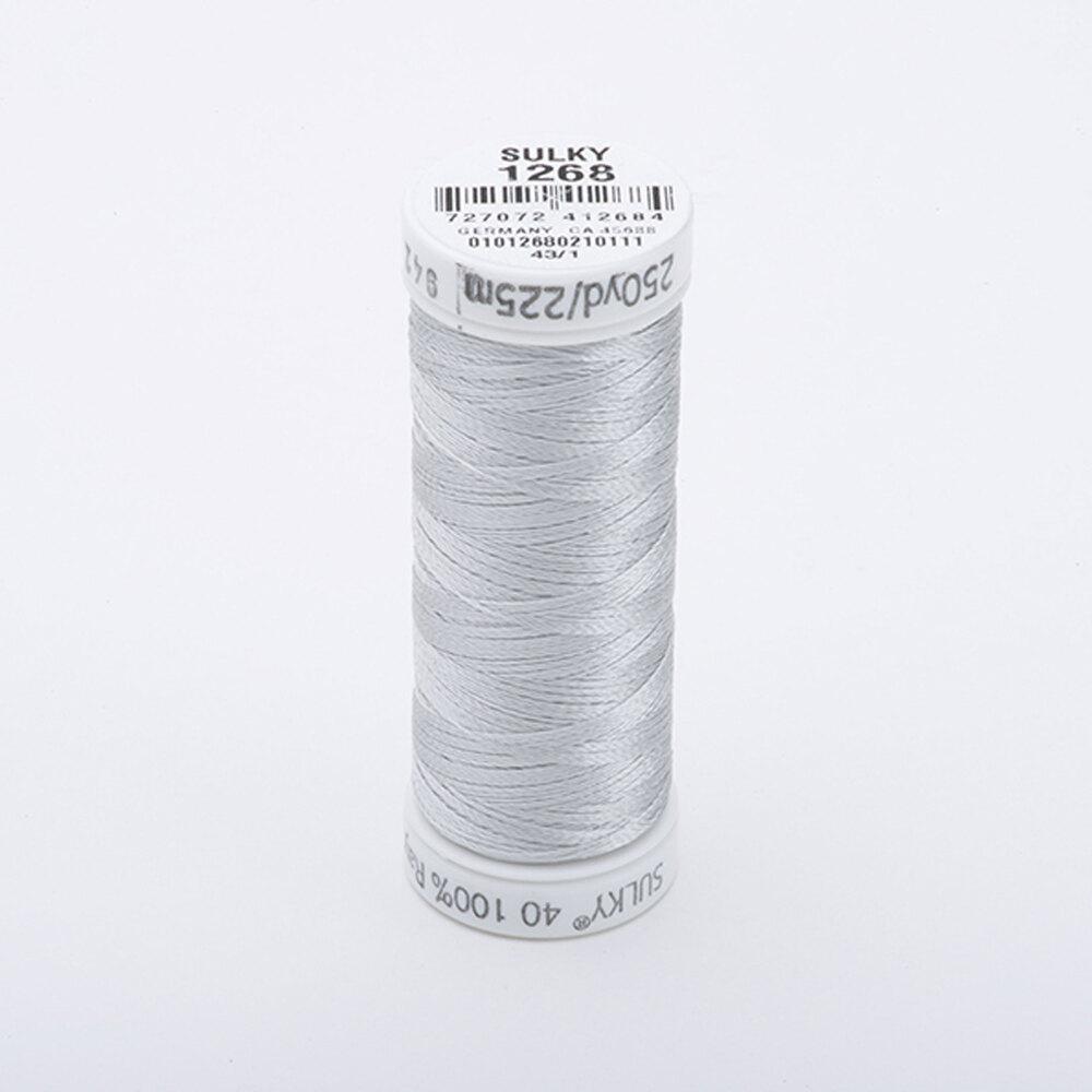 Sulky 40 wt Rayon Thread  #1268 Lt. Gray Khaki   Shabby Fabrics