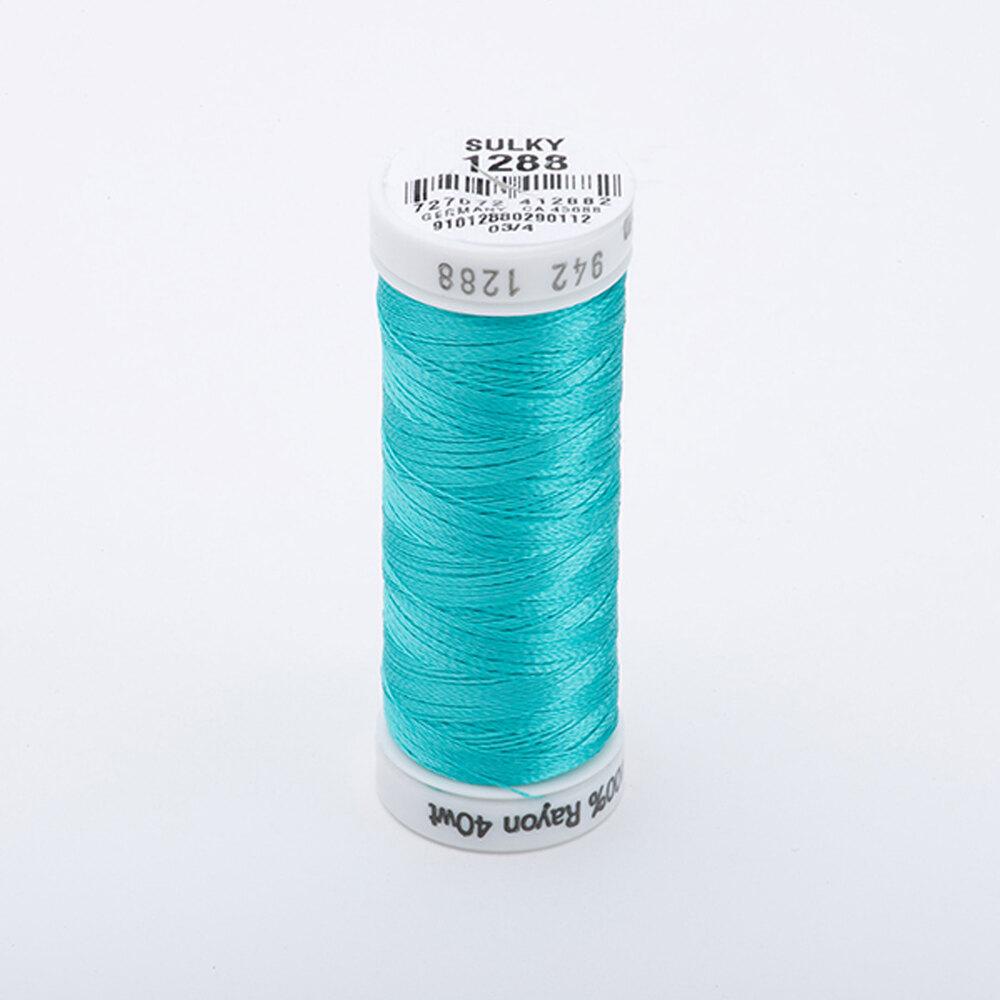 Sulky 40 wt Rayon Thread  #1288 Aqua | Shabby Fabrics