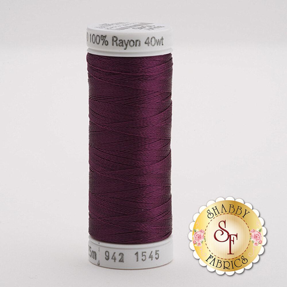 Sulky 40 wt Rayon Thread  #1545 Purple Accent   Shabby Fabrics