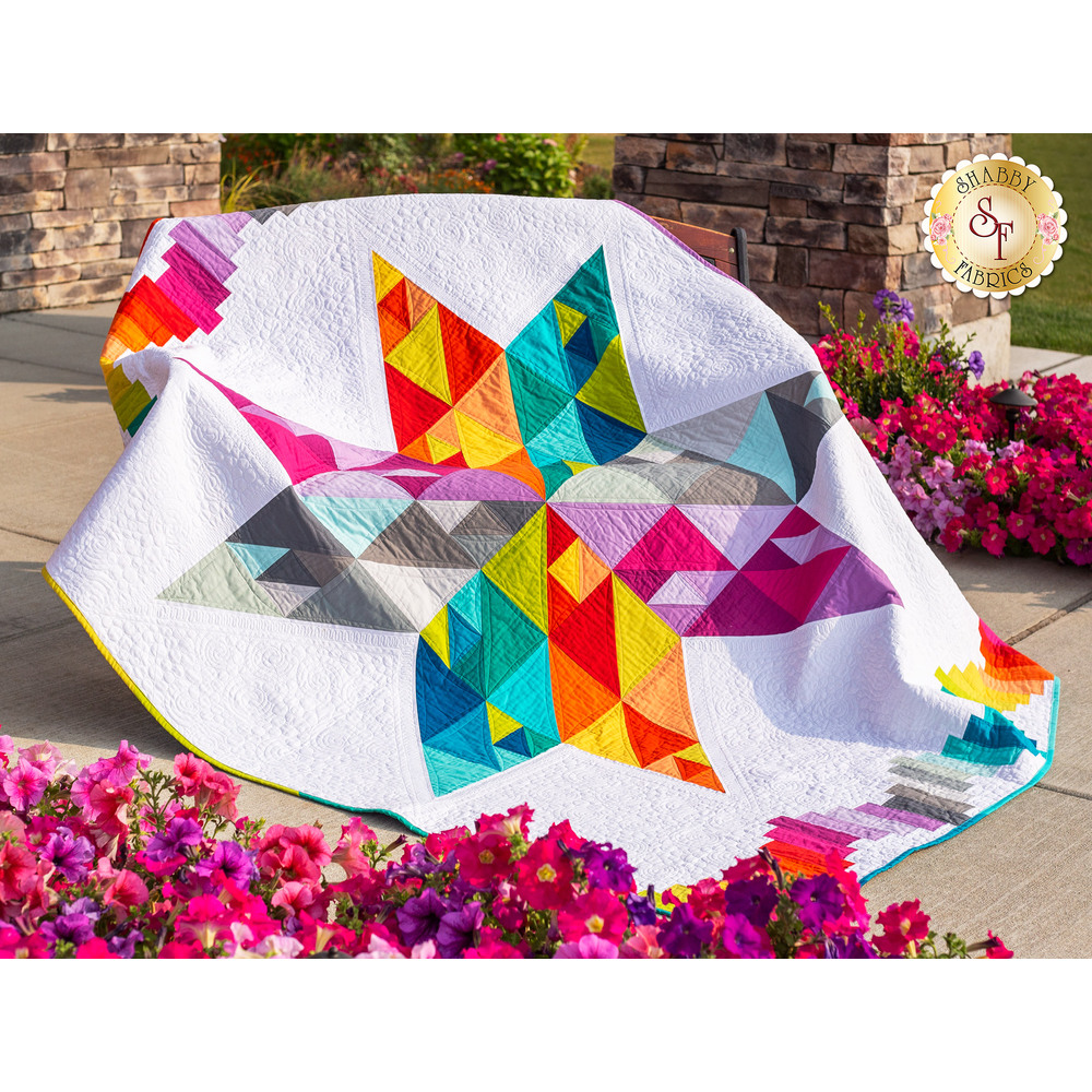 Summer Star Quilt Kit available at Shabby Fabrics