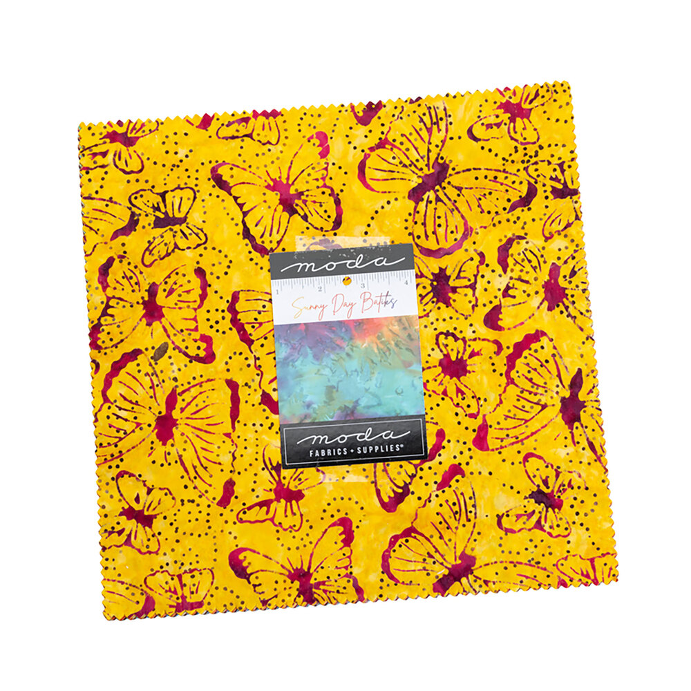 Sunny Day Batiks Layer Cake on a white background