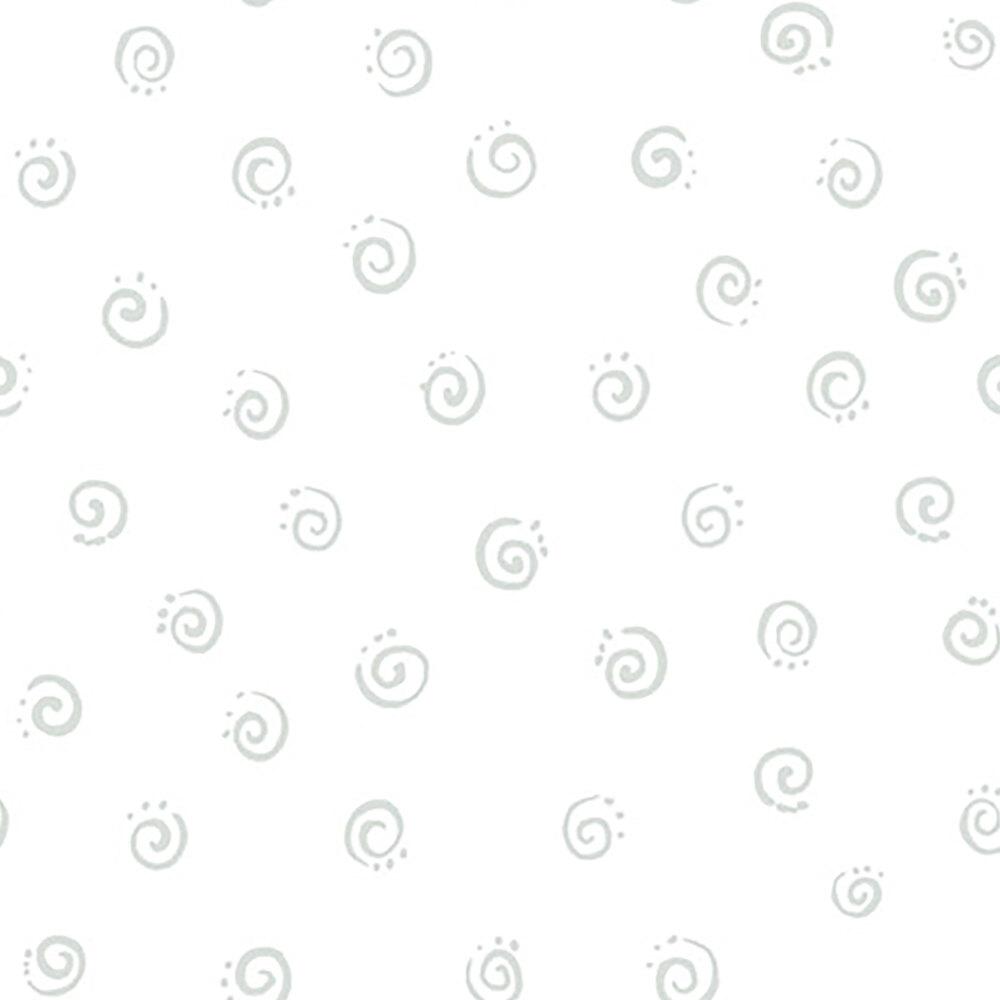 Tonal white swirls | Shabby Fabrics