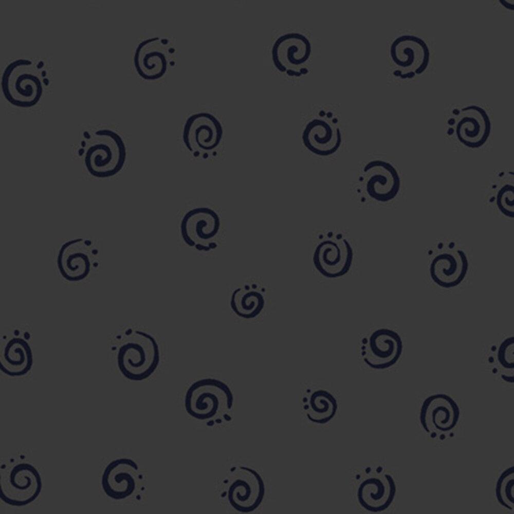 Tonal black swirls | Shabby Fabrics