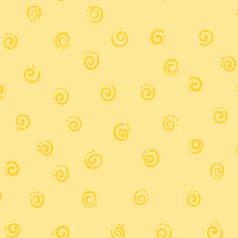 Tonal yellow swirls | Shabby Fabrics