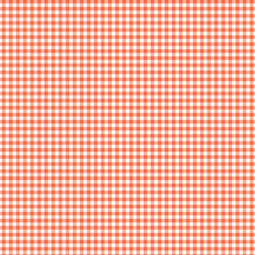 Orange gingham on white | Shabby Fabrics