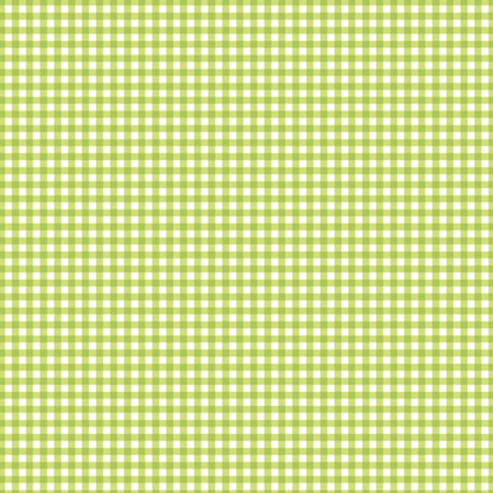Green gingham on white | Shabby Fabrics