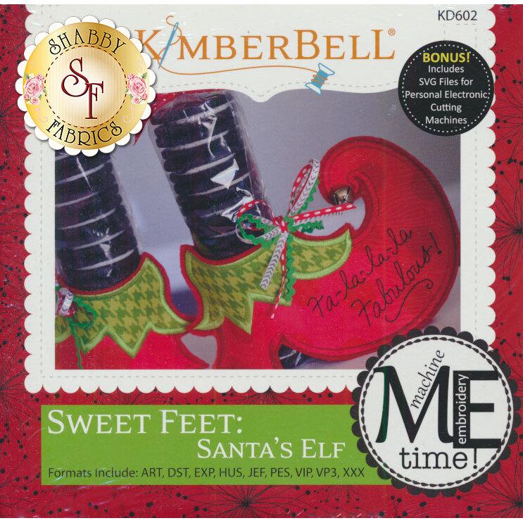 Sweet Feet: Santa's Elf Embroidery Machine CD available at Shabby Fabrics