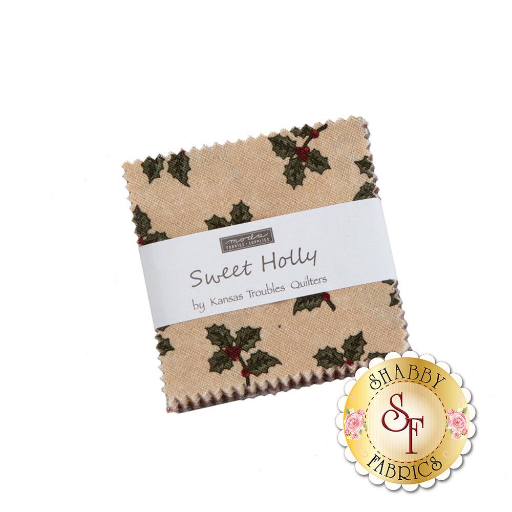 The Sweet Holly Mini Charm Pack from Moda Fabrics | Shabby Fabrics