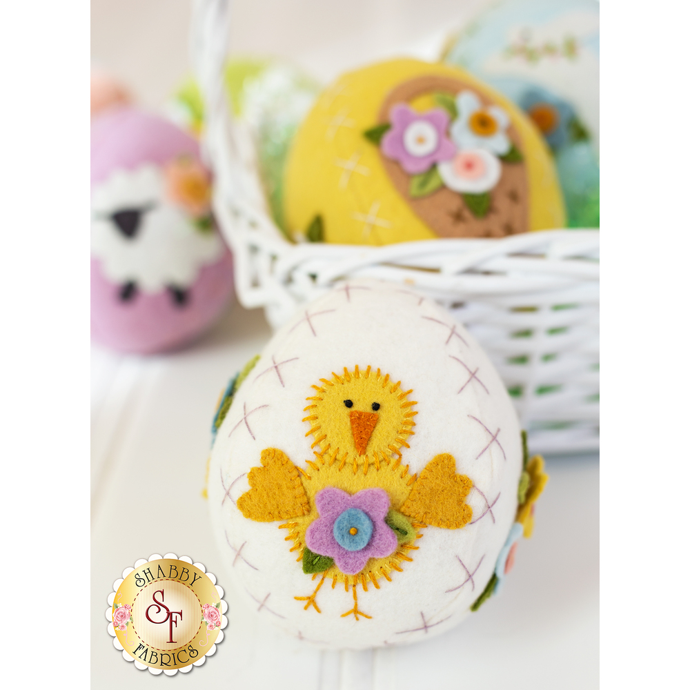 Sweet Stitched Stuffed Easter Eggs Kit - In Wool Felt