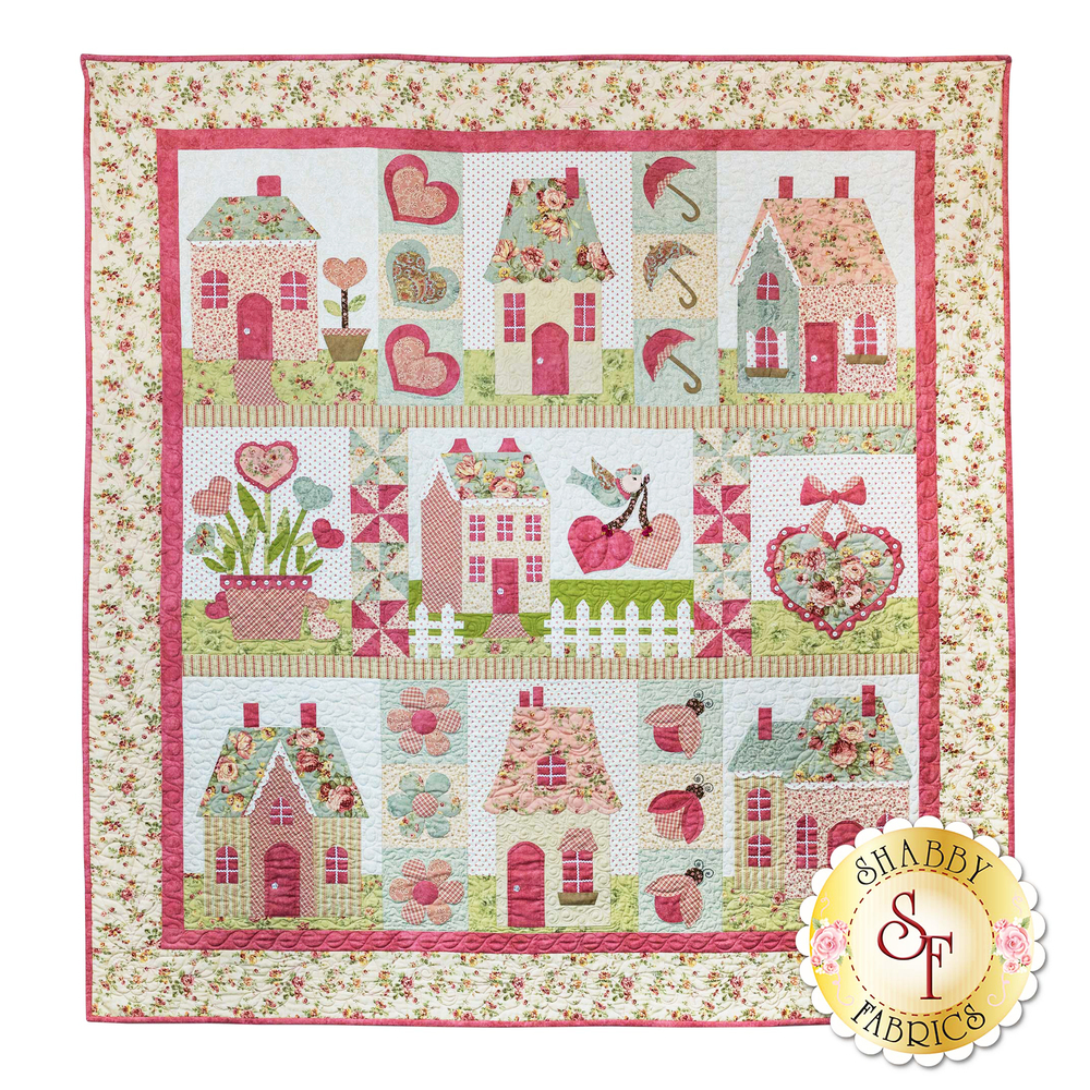 English Rose - Traditional Applique SAMPLE QUILT