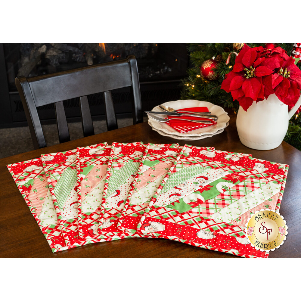 Quilt As You Go Jakarta Placemats Swell Christmas Shabby Fabrics
