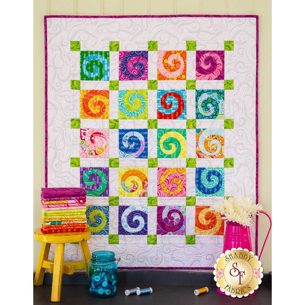 Swirls Quilt Kit available at Shabby Fabrics