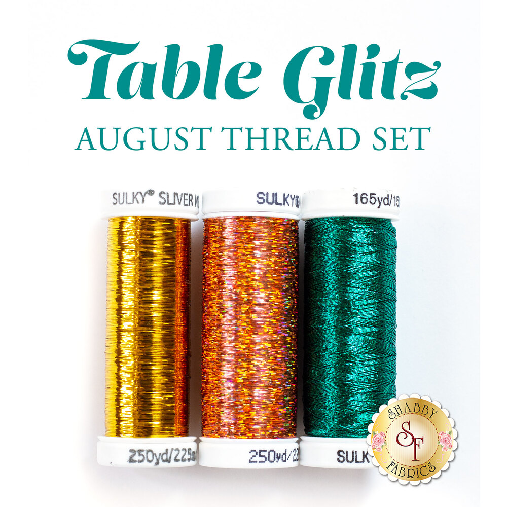 Table Glitz Series - August - 3 pc Thread Set