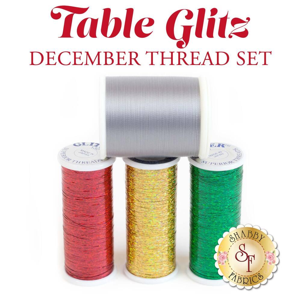 Table Glitz Series - December - 4 pc Thread Set