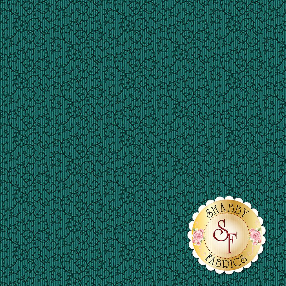 Tonal teal vines | Shabby Fabrics