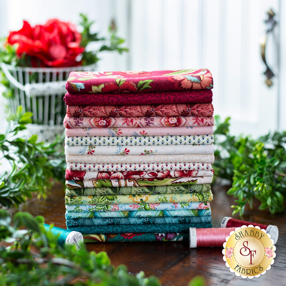 A collage of fabrics included in the Tarrytown collection | Shabby Fabrics