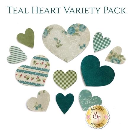 Laser-Cut Teal Heart Set - Variety Pack