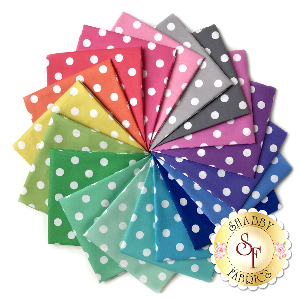 That's It Dot  18 Fat Quarter Set by Michael Miller Fabrics available at Shabby Fabrics
