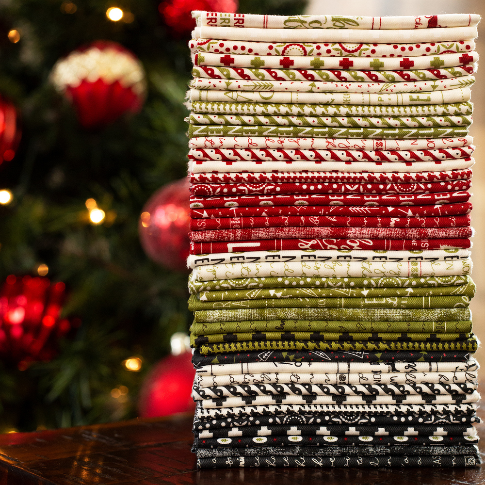 Fabrics in The Christmas Card FQ bundle | Shabby Fabrics