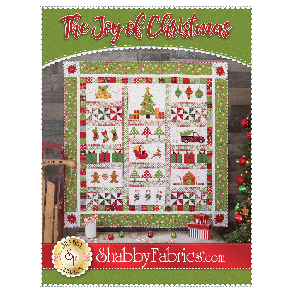 The front of The Joy of Christmas Pattern | Shabby Fabrics