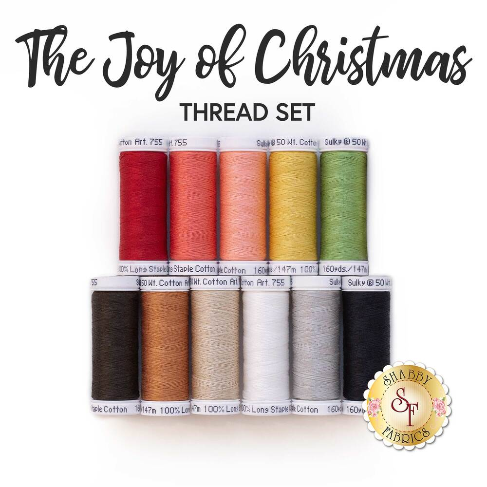 The coordinating threads in the Merry Memories BOM | Shabby Fabrics